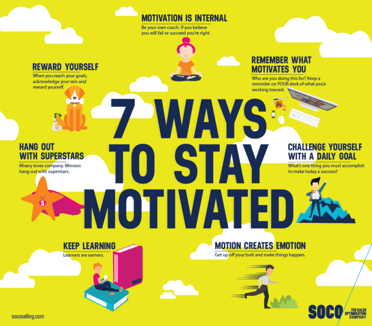 Ways To Stay Motivated In Sales