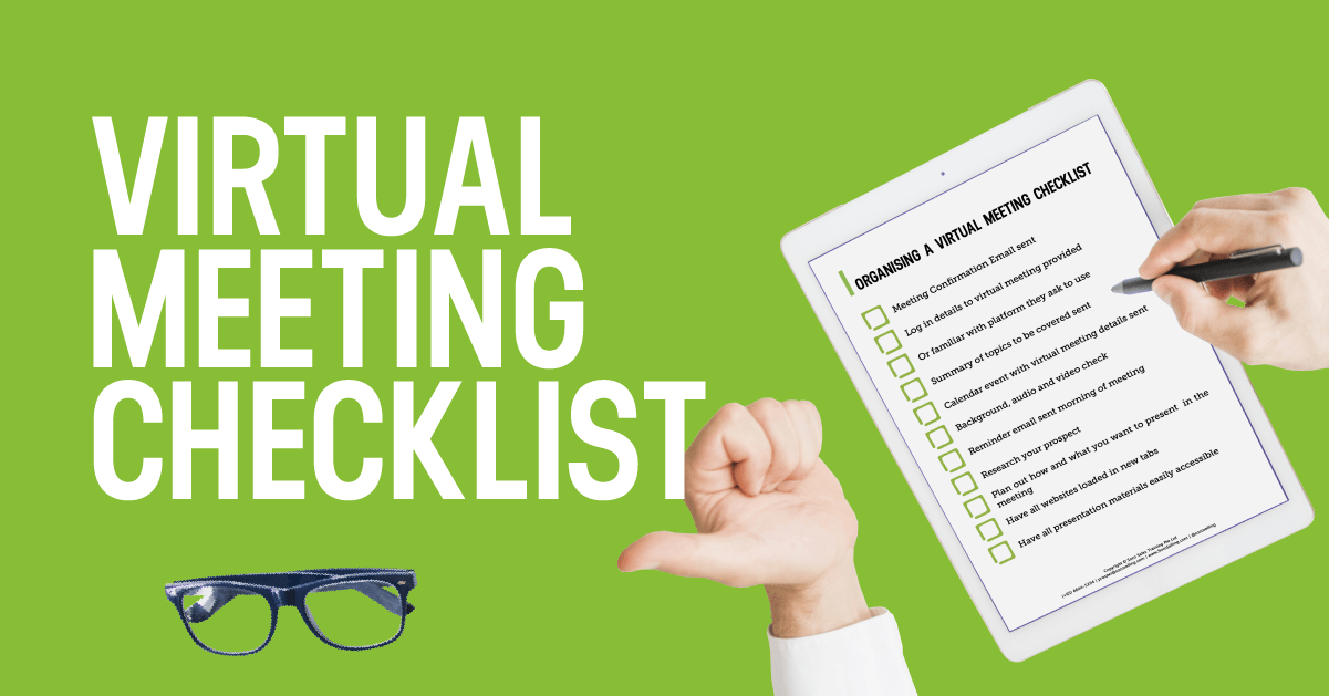 virtual meeting checklist infographic